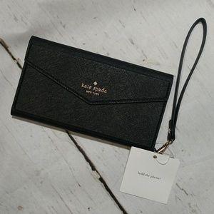 Kate Spade iPhone Envelope Wristlet Black